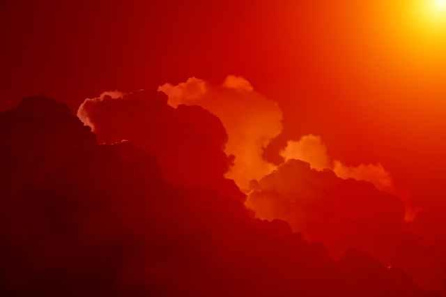 sky sunset clouds bright
